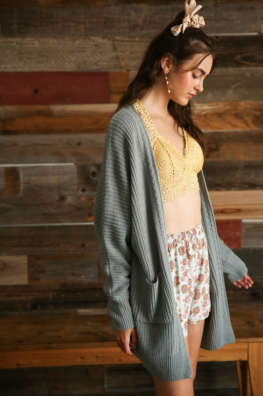 Knitted Oversized Cardigan