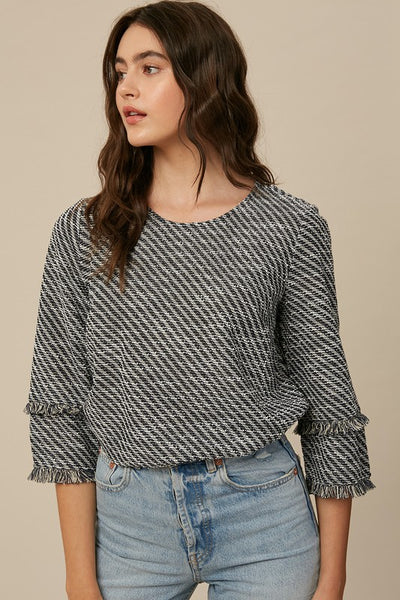 Day to Night Tweed Top