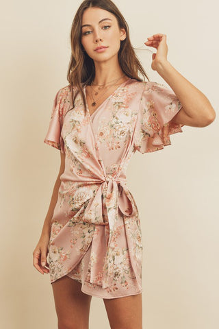 Matchmaker Floral Wrap Dress