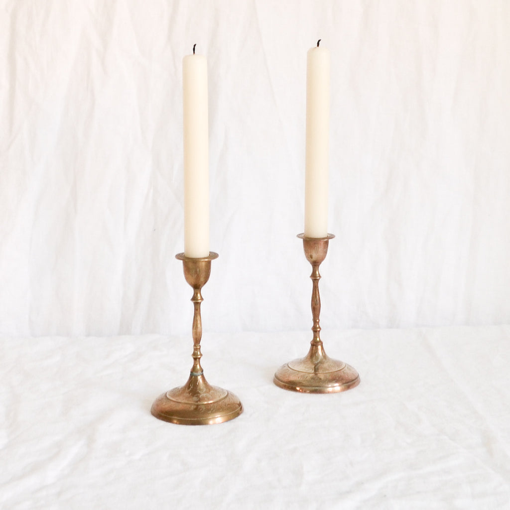 VINTAGE 'MARTHA' PAIR OF CANDLESTICKS