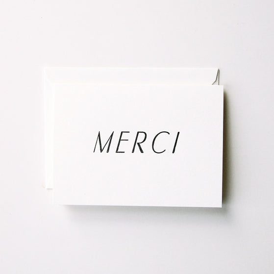'MERCI' CARD
