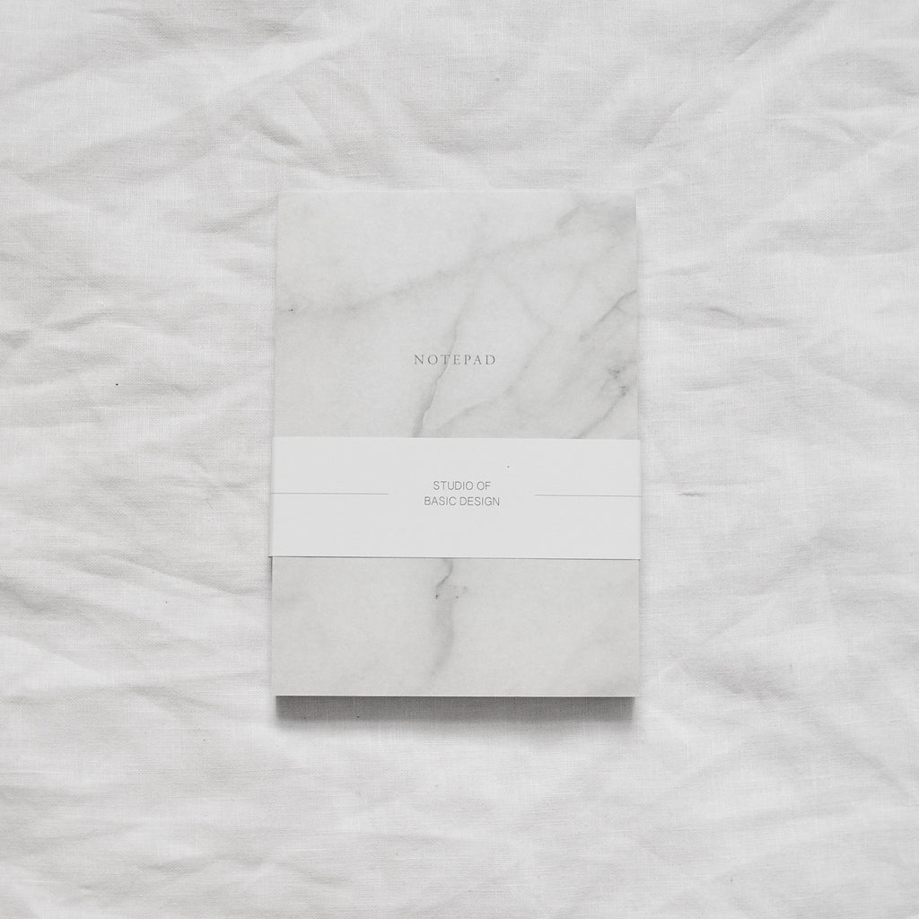 WHITE MARBLE NOTEPAD