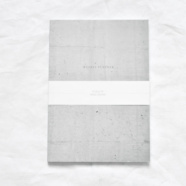 GREY CONCRETE PLANNER