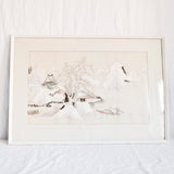 VINTAGE JAPANESE SILK EMBROIDERED PICTURE