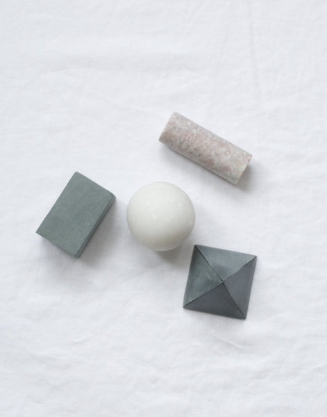 SET OF 4 SOAPSTONE & MARBLE DRINKS ROCKS - BACK IN STOCK AUTUMN