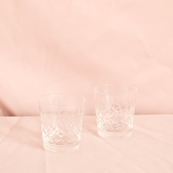 VINTAGE SET OF 6 CRYSTAL WHISKEY TUMBLERS