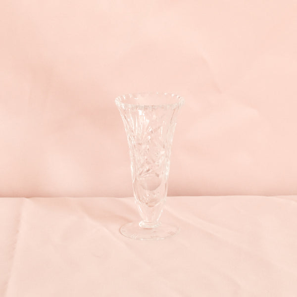 VINTAGE CUT GLASS SMALL BUD VASE