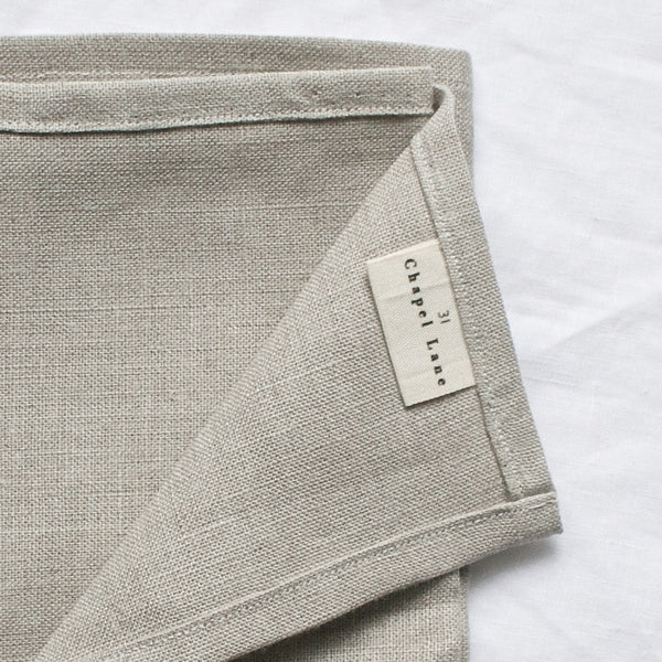 IRISH LINEN TEA TOWEL NATURAL