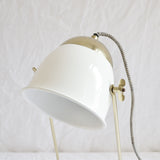 BRASS & ENAMEL TABLE LAMP