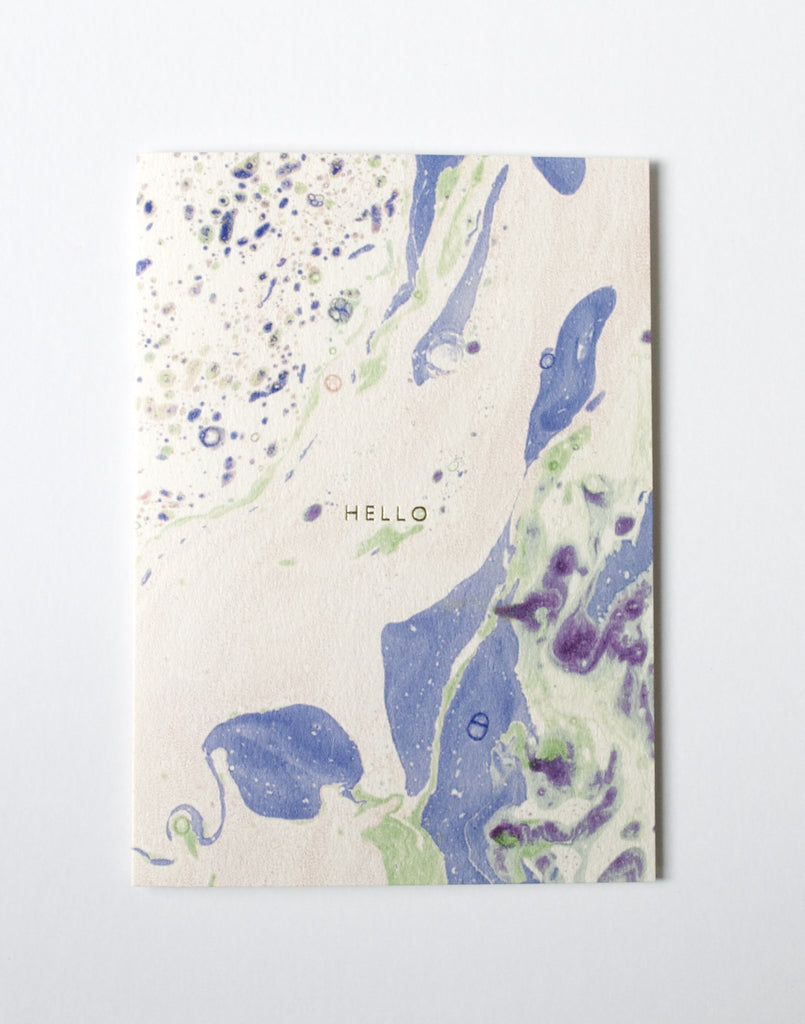 MARBLED 'HELLO' CARD