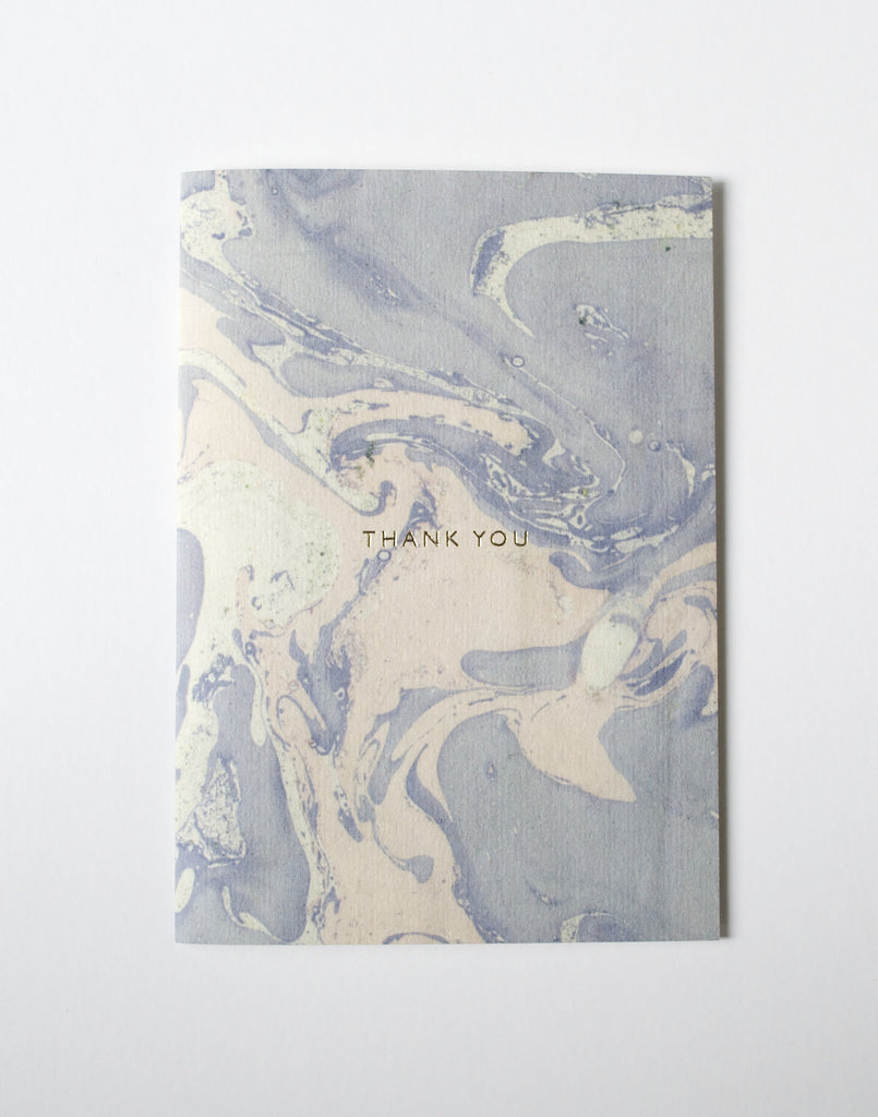 MARBLED 'THANK YOU' CARD