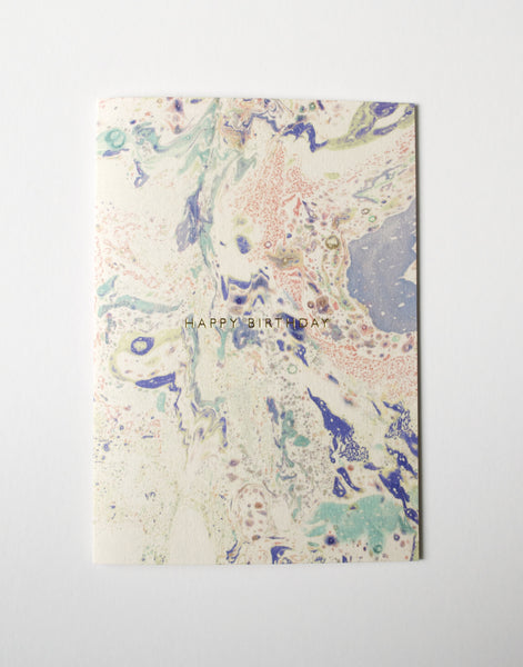 MARBLED 'HAPPY BIRTHDAY' CARD