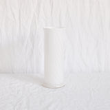 VINTAGE WHITE TWISTED GLASS VASE