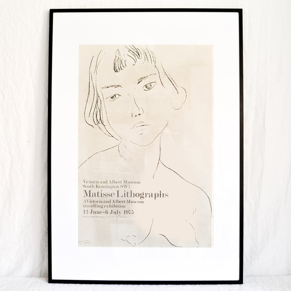 VINTAGE V&A MUSEUM MATISSE LITHOGRAPHS EXHIBITION POSTER