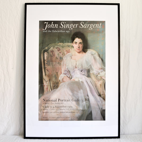 VINTAGE NATIONAL PORTRAIT GALLERY SARGENT EXHIBITION POSTER