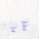 VINTAGE SET OF 6 LILAC ITALIAN SHORT GLASSES