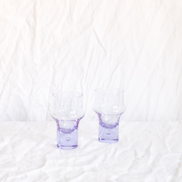 VINTAGE SET OF 6 LILAC ITALIAN GLASSES