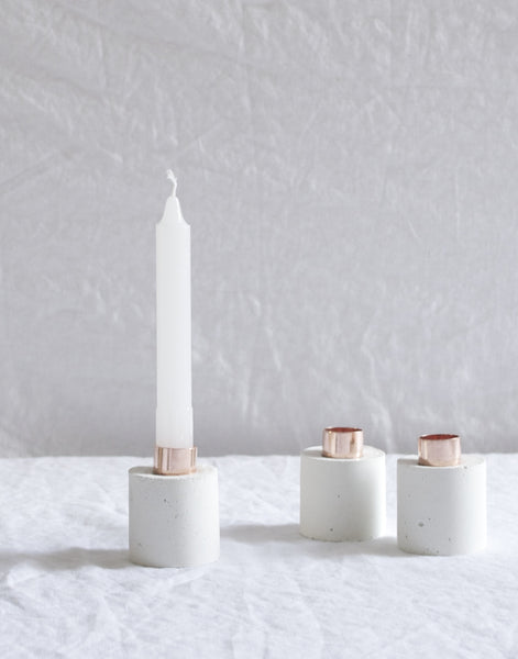 COPPER & CONCRETE CANDLE HOLDER
