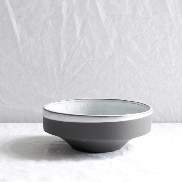 MEDIUM MATTE & GLAZE SLATE BOWL
