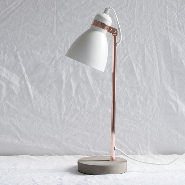 CONCRETE & COPPER TABLE LAMP