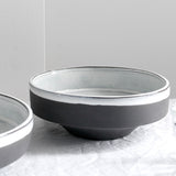 SLATE GREY MATTE & GLAZE BOWL MEDIUM