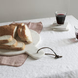 WHITE ECO-LINEN TABLECLOTH 160 X 200