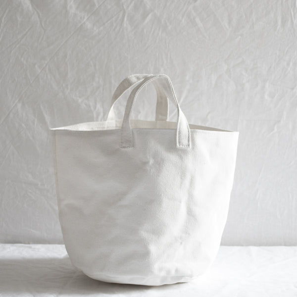 WHITE CANVAS STORAGE BAG LARGE