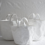 WHITE CANVAS STORAGE BAG MEDIUM