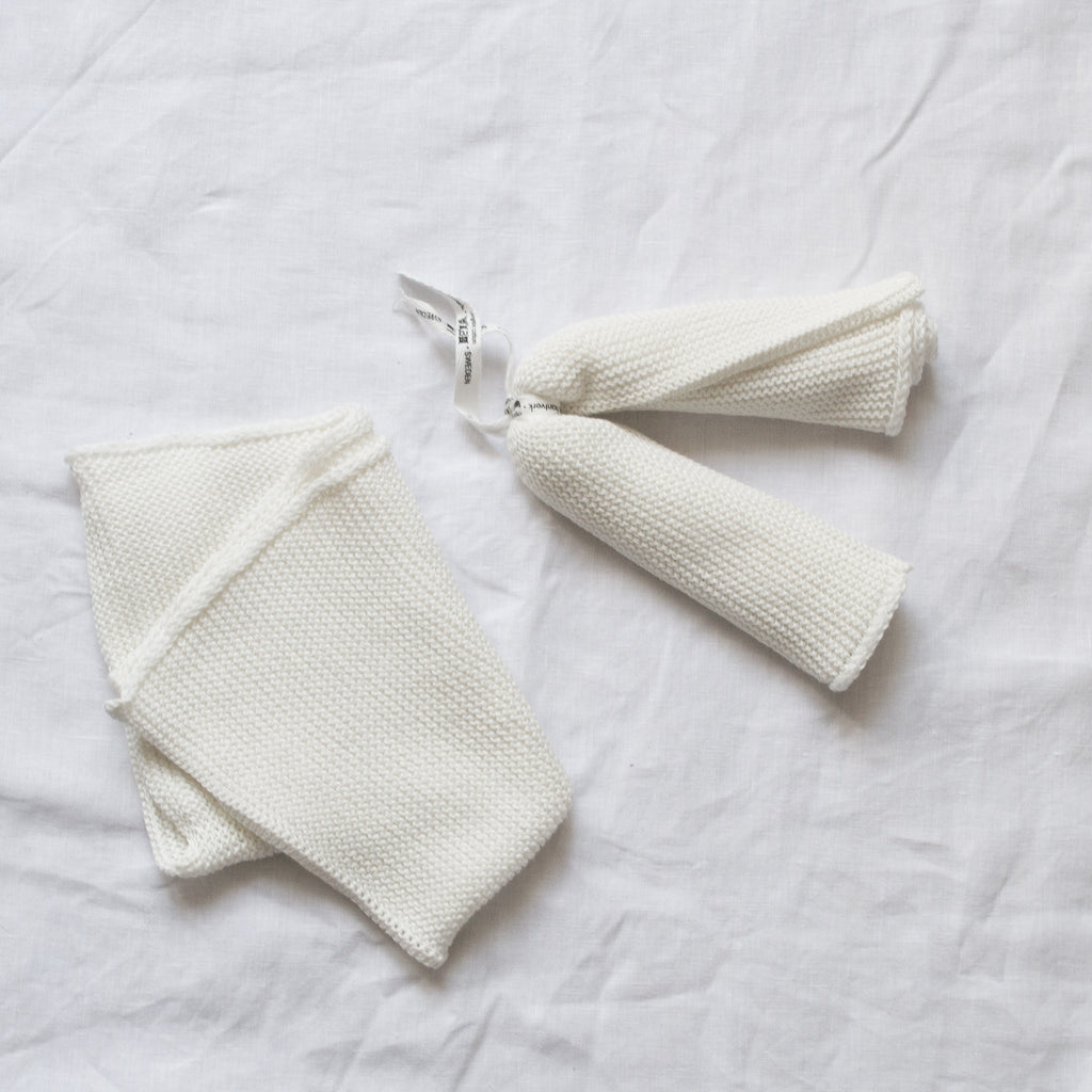KNITTED ORGANIC COTTON WASH CLOTH