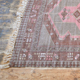 PINK & BROWN COTTON STONEWASHED RUG