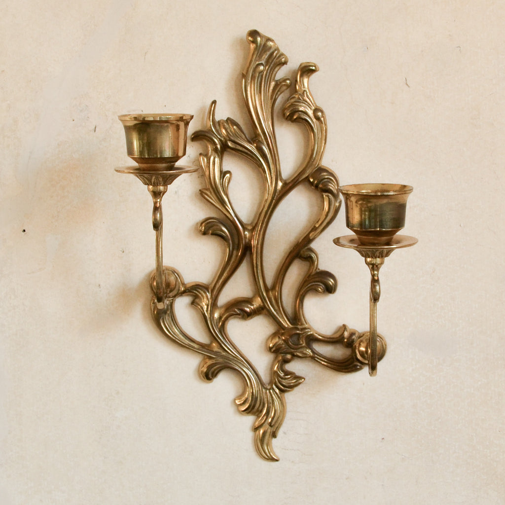 VINTAGE 'LOUIS' ORNATE CANDLE SCONCE