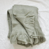GREEN FLUFFY THROW BLANKET