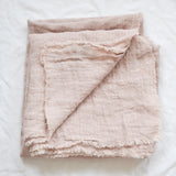 PINK LINEN TABLECLOTH 140 X 220