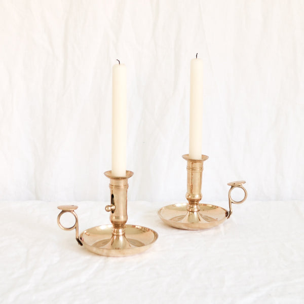 VINTAGE 'MARIANNE' PAIR OF CANDLE HOLDERS