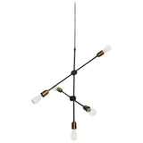 'MOLECULAR' BLACK & BRASS PENDANT LAMP