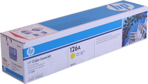 HP 126A (CE312A) Yellow Original LaserJet Toner Cartridge (1000 Yield)