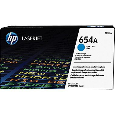 HP 654A (CF331A) Cyan Original LaserJet Toner Cartridge (15000 Yield)