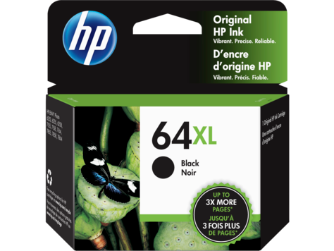 HP 64XL (N9J92AN#140) BLACK ORIGINAL INK CARTRIDGE