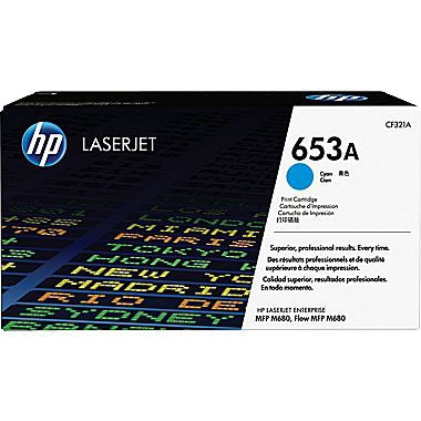 HP 653A (CF321A) Cyan Original LaserJet Toner Cartridge (16500 Yield)