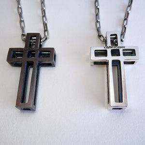 Cage Cross Necklace