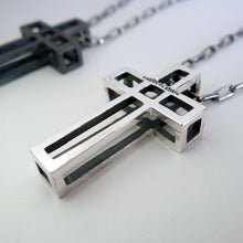 Load image into Gallery viewer, Cage Cross Necklace