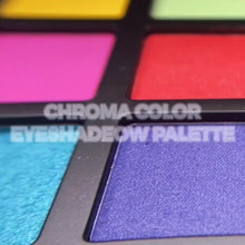 Load and play video in Gallery viewer, THE CHROMA COLOR EYESHADOW PALETTE