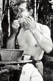 clark gable shaving