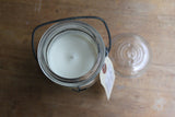 vintage canning jar candle // bougie pot masson antique
