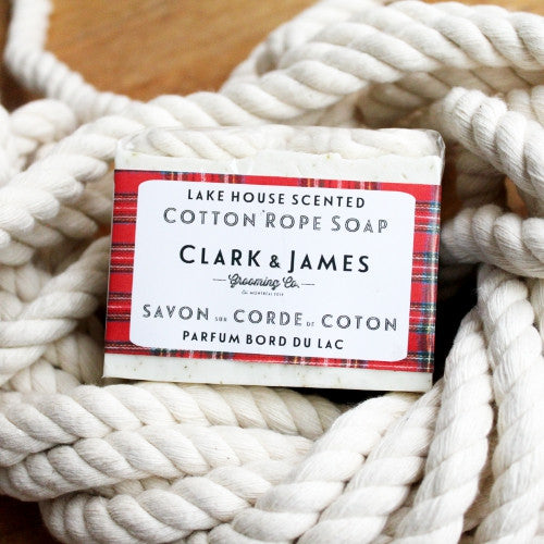 Lake House cotton rope soap // savon sur corde Bord du Lac