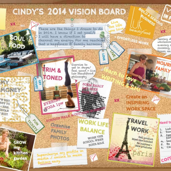 inspiration & motivation for 2014 my vision board