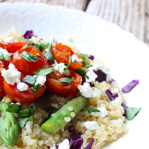 quinoa salad with asparagus and tomato recipe luk beautifood clean food
