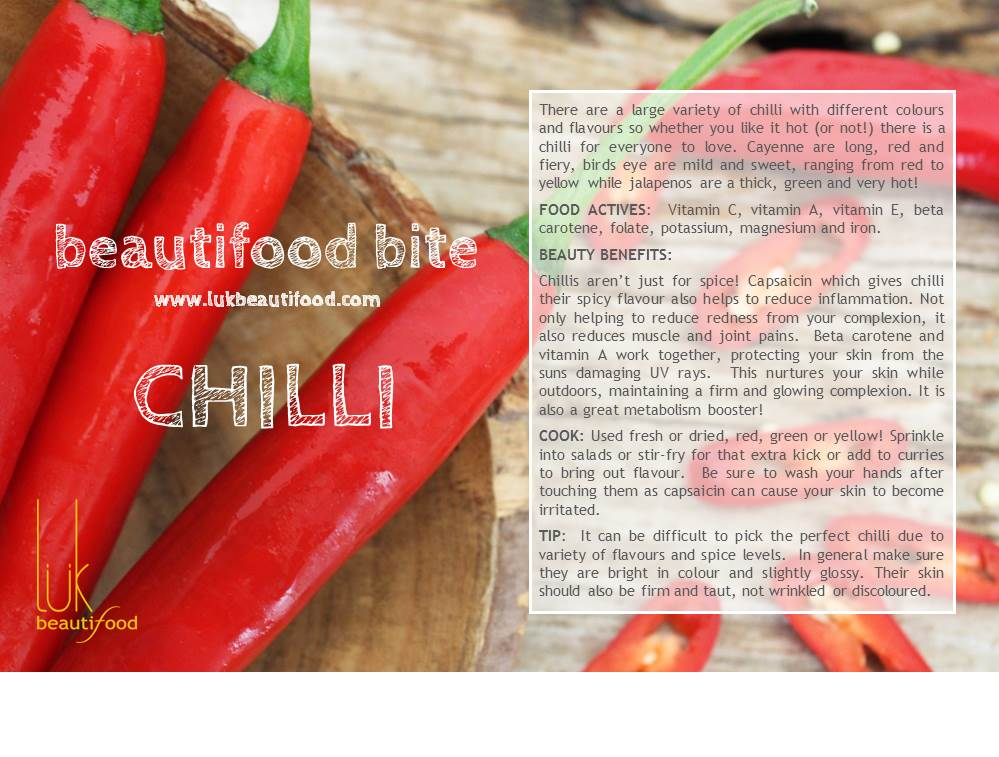 beauty benefits of chilli beauty food chilli luk beautifood