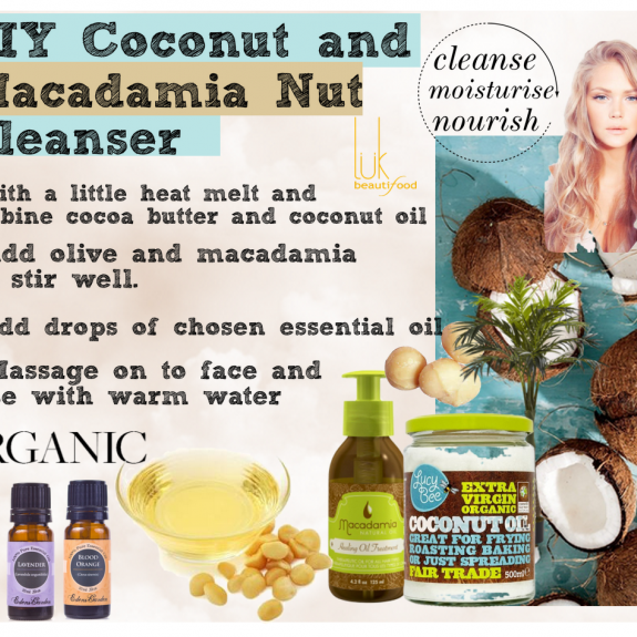 DIY Coconut & macadamia nut cleanser