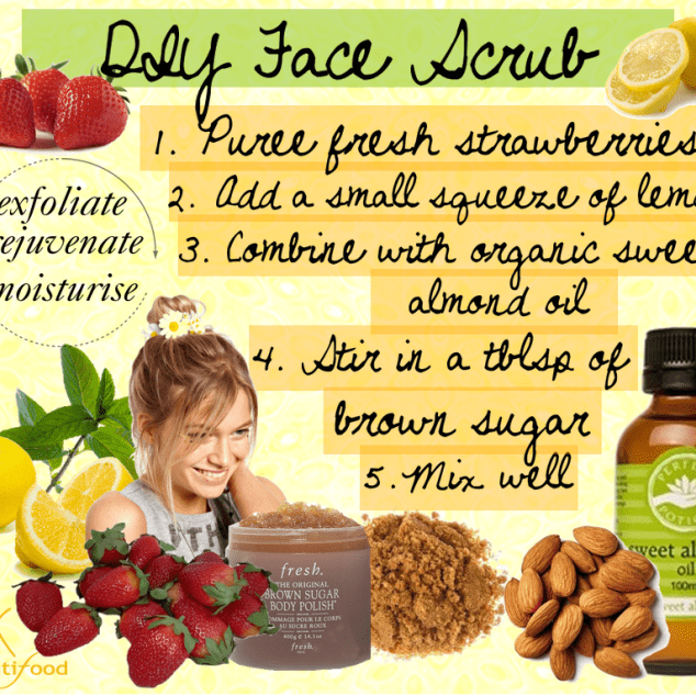 DIY Strawberry Face Scrub